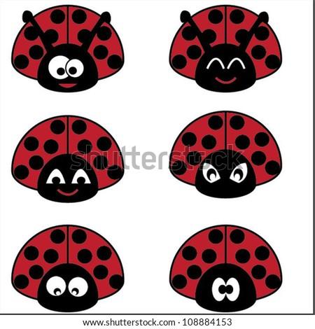 ladybug - stock vector