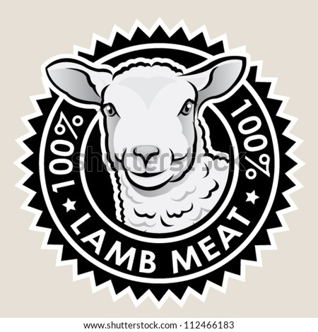 Lamb Meat 100% - stock vector