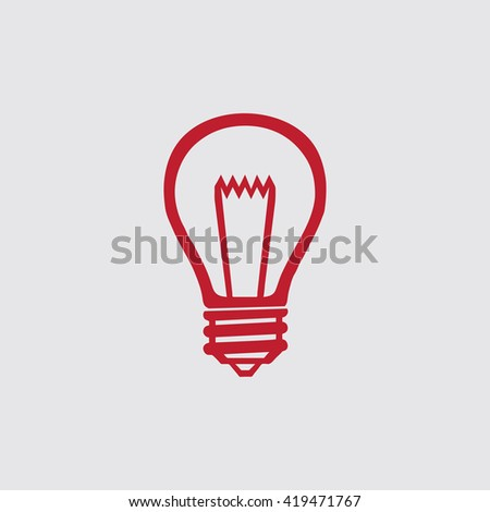 Lamp icon, vector illustration. - stock vector