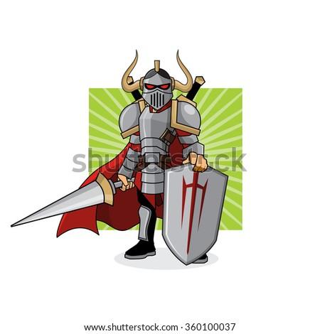 Lance Knight - stock vector