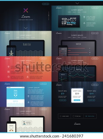 Landing Page for you Web Design  - stock vector