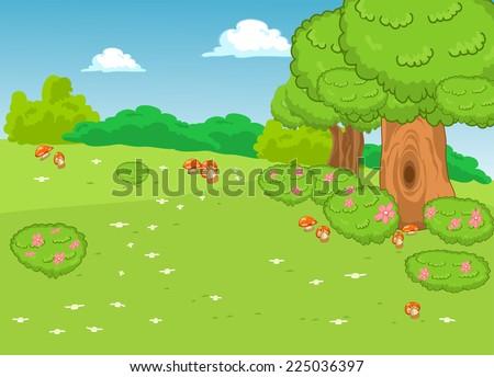 landscape background - stock vector
