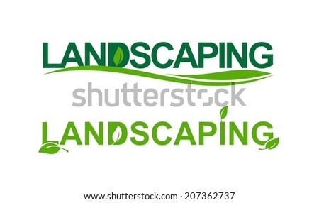 Landscaping representation in green - stock vector
