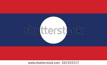 laos Flag for Independence Day and infographic Vector illustration. - stock vector