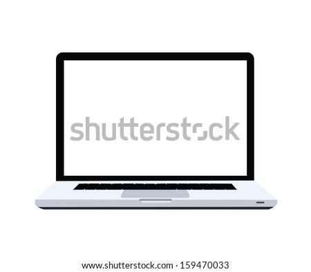 Laptop - stock vector
