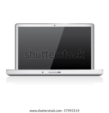 laptop computer - stock vector