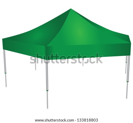 Large commercial awning six racks. Vector illustration. - stock vector
