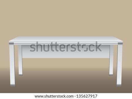 Large office desk for office equipment. Vector illustration. - stock vector