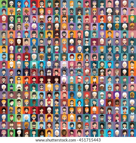 Large set of  avatars 4 - stock vector