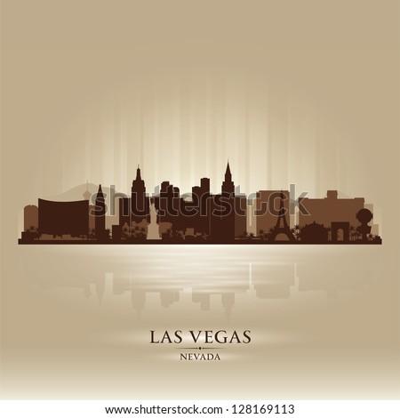 Las Vegas, Nevada skyline city silhouette - stock vector