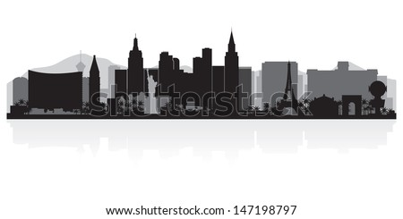 Las Vegas USA city skyline silhouette vector illustration - stock vector