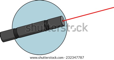 laser pointer - stock vector