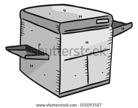 laser printer - stock vector