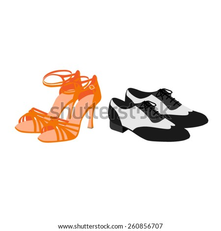 Latin dancing shoes vector - stock vector