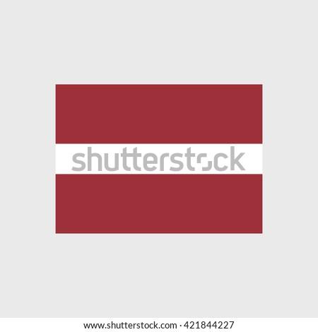 Latvia national flag - stock vector