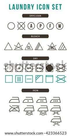 Laundry icon set - stock vector