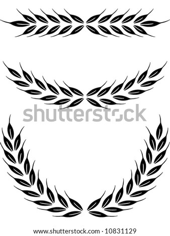 laurel crown - stock vector