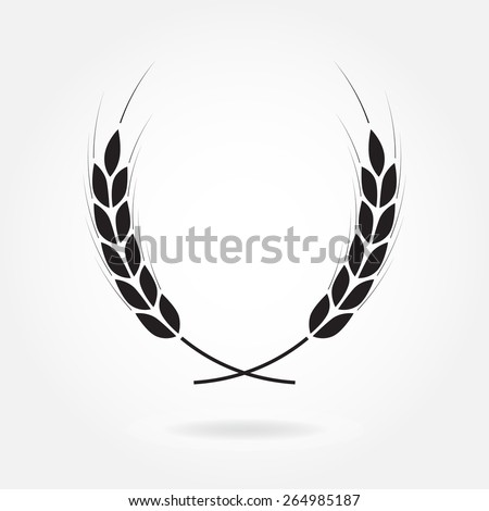 Laurel wreath icon or sign isolated on white background. Vector illustration. - stock vector