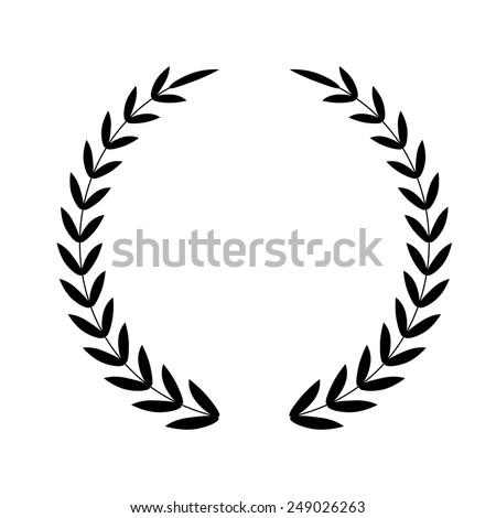 Laurel Wreath. Vector icon - stock vector