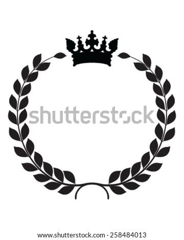 Laurel wreath vector isolated - stock vector
