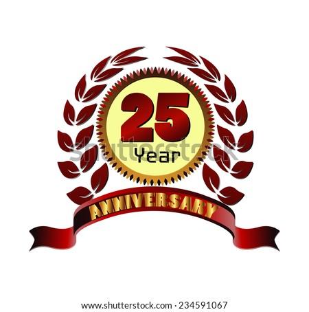Laurel wreath 25 years anniversary� - stock vector