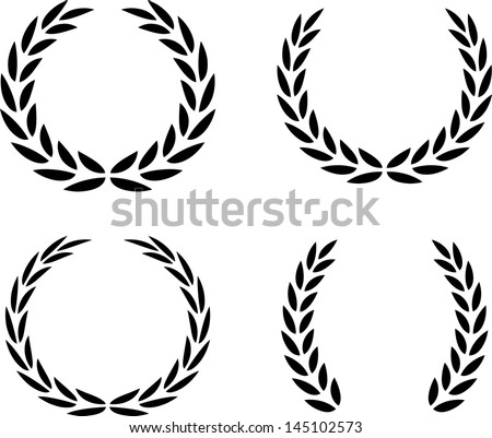 Laurel Wreaths Vector Isolated - stock vector
