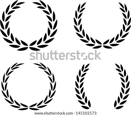 Laurel Wreaths Vector Isolated - stock vector