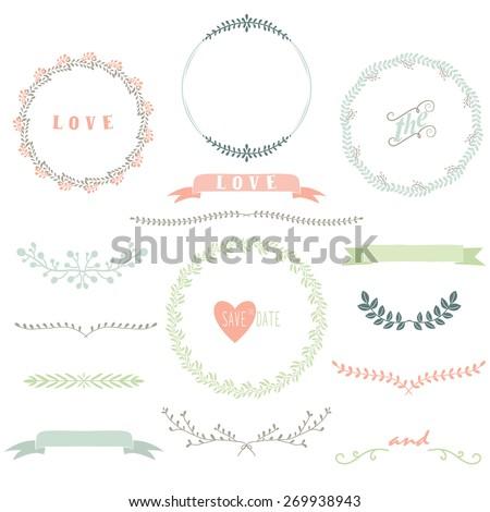 Laurels Wreath Collection - stock vector