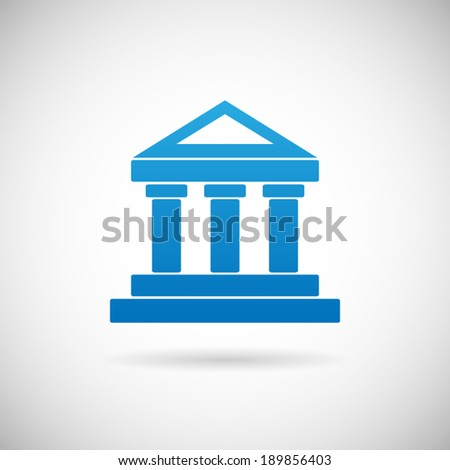 Law Court or Bank House symbol Justice or Finance Icon Design Template Vector Illustration - stock vector