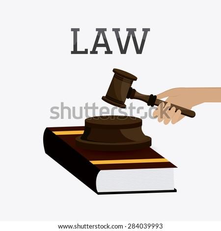 Law design over white background, vector illustration. - stock vector