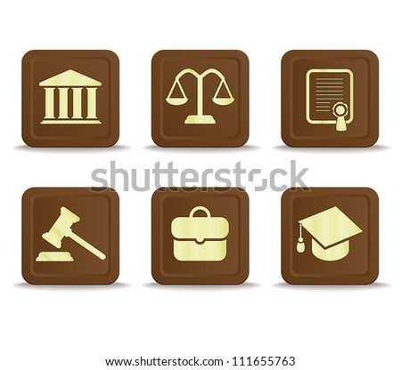 law icons - stock vector