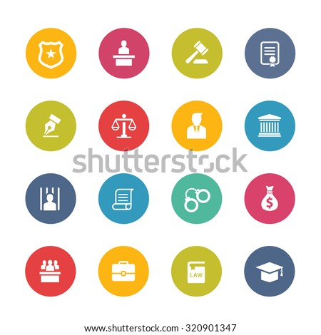 Law icons,modern law,law firm,law logo,lawyer logo,lawyer icons,legal,law office,law and justice icon set - stock vector