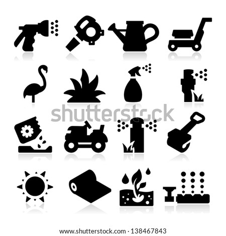 lawn Icons - stock vector