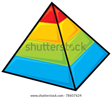 Layered pyramids - stock vector