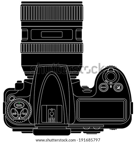 layered vector illustration of Camera. - stock vector