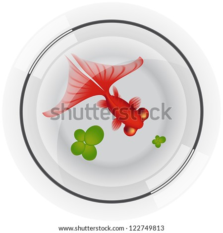 Layered vector illustration of Fishbowl. - stock vector