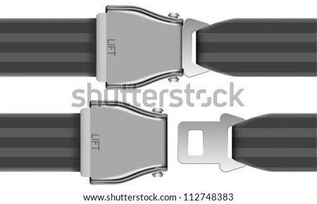Layered Vector Illustration Of Seat Belt Which Be Used At Airplane. - stock vector
