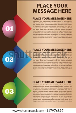 Layout design with colors and area for text. Vector illustration. - stock vector