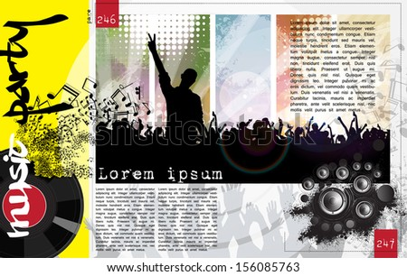 Layout magazine pages. Vector - stock vector