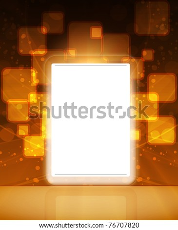 LCD Interactive Touch screen - stock vector