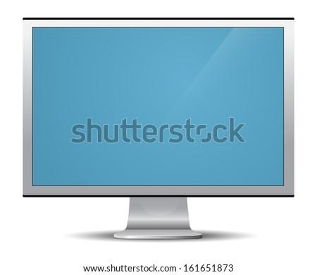 LCD TV vector - stock vector
