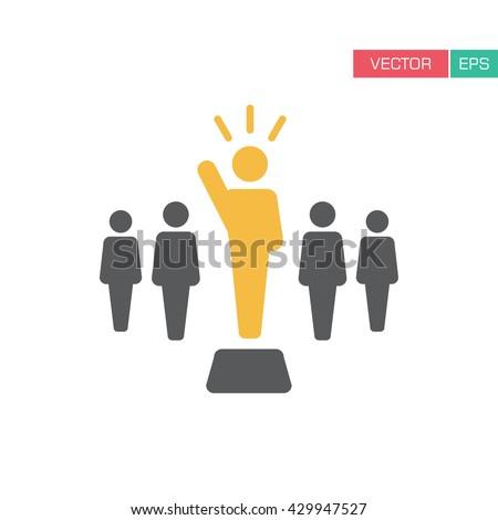 Leader Icon - Vector  - stock vector