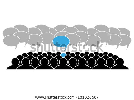 leader in the team  - stock vector
