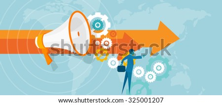 leader leadership in business concept team work vision visionary for success businessman  lead  - stock vector