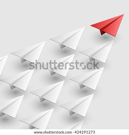 Leader of aircraft guidance. Vector illustration - stock vector