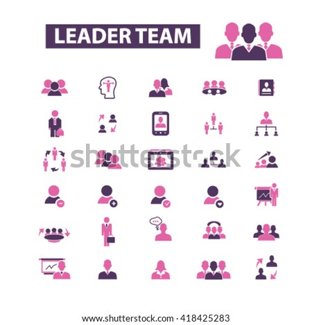 leader team icons  - stock vector