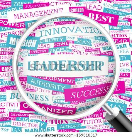 LEADERSHIP. Concept illustration. Graphic tag collection. Wordcloud collage. Vector illustration.  - stock vector