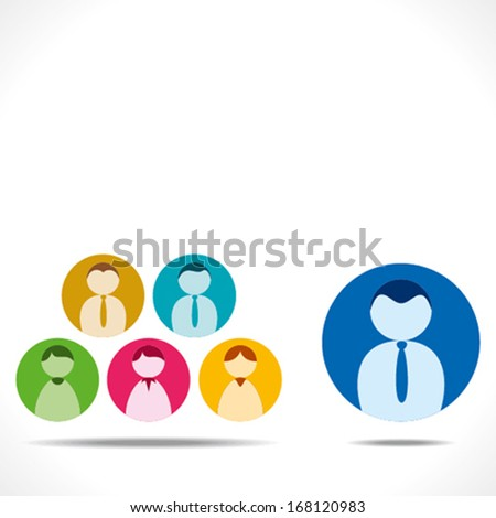 leadership concept or team with leader background vector - stock vector