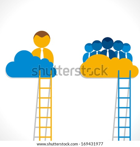 leadership concept or teamwork concept vector - stock vector