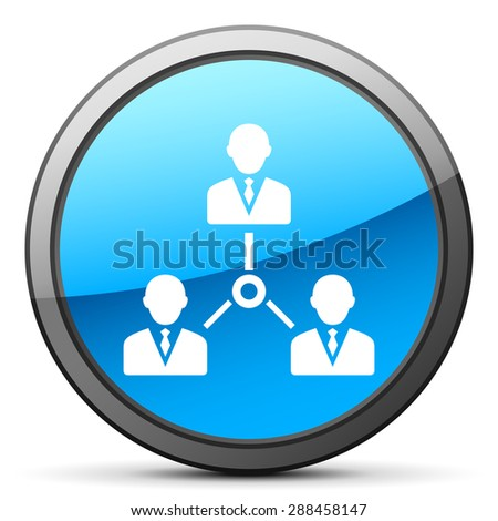 Leadership icon on a round button. - stock vector